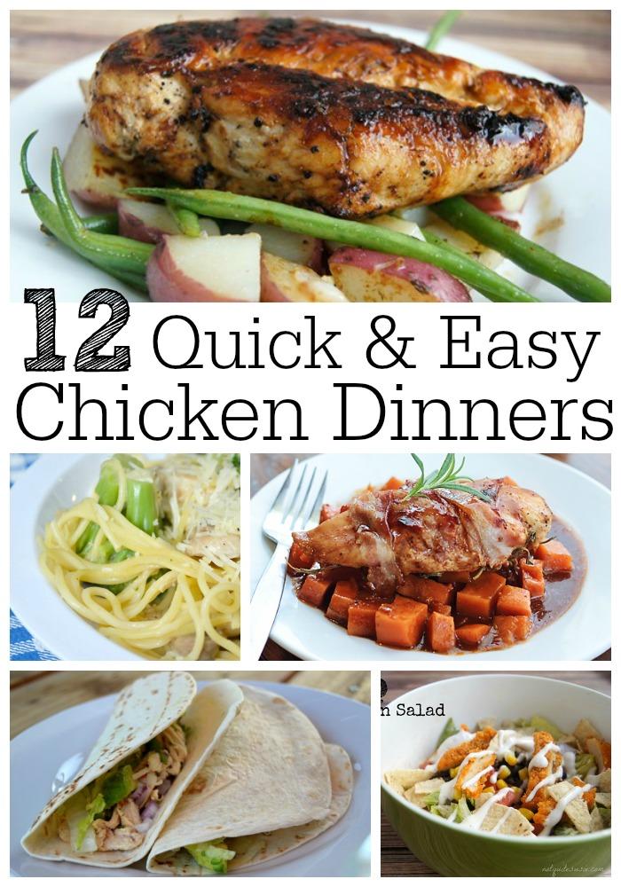 12 Quick & Easy Chicken Dinner Recipes - {Not Quite} Susie ...
