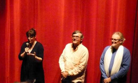 Catherine Wojcik Directrice de la Maline, Jean Chavinier président de Jazz au Phare et Jean-Michel Proust directeur artistique du Festival