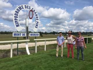 Damien Morin, Capucine Nicot et Véronique Vigouroux - Mont de Marsan - 3 septembre 2015