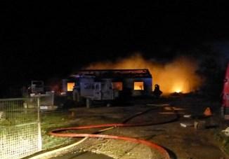 Loix - Cabane ostréicole en feu - 12 janvier 2016