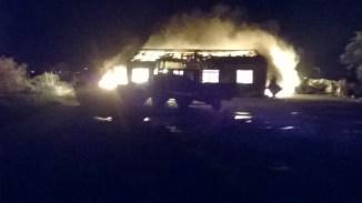 Loix - Incendie dans cabane ostréicole - 12 janvier 2015
