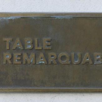Chai nous comme Chai vous - Table remarquable