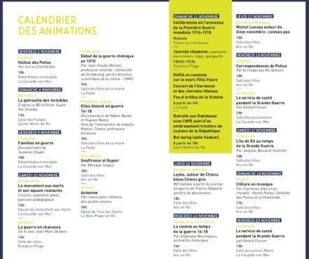 Brochure CDC Ile de Ré - Commémoration 14-18 - novembre 2018