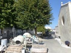 Eglise Ars - Travaux de drainage - Cour de la sacristie - 25 septembre 2018