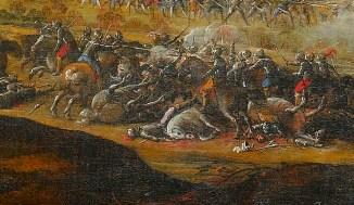 Laurent de La Hyre - Combat de la cavalerie française contre les Anglais