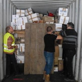 Préparation du container pour Arbollé