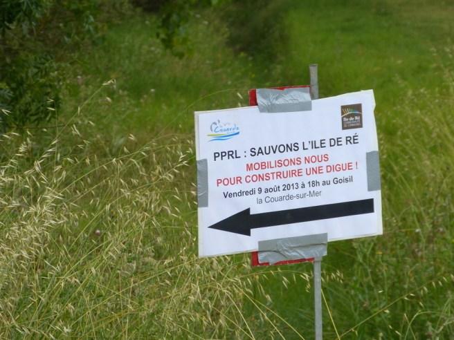 Mobilisation pour la digue du Goisil