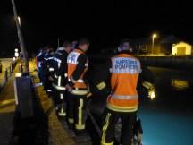 Intervention pompiers dans le port d'Ars-en-Ré - Octobre 2014