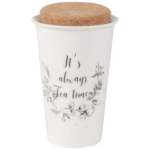 Tasse en porcelaine imprimé « It's always Tea Time »