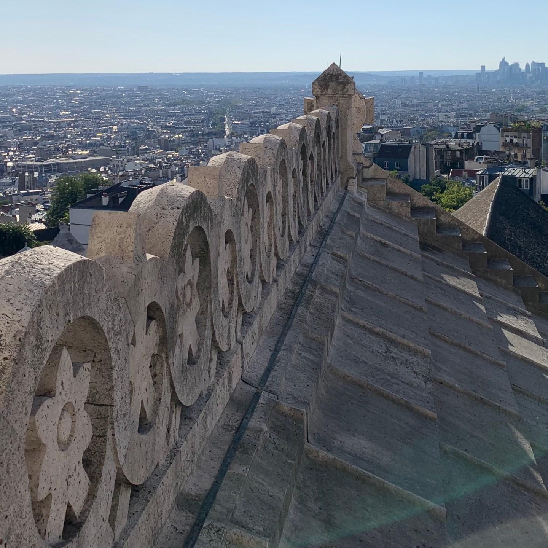 Paris von oben- Spaziergang auf dem Dom der Basilika Sacré Cœur