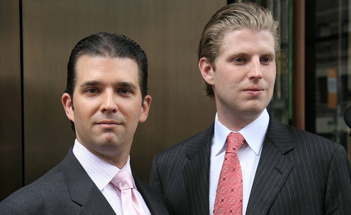 Eric and Don Jr Ask Santa for a PS5 and a New Election