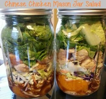 Chinese Chicken Mason Jar Salad