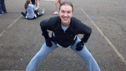 Tanya stretching