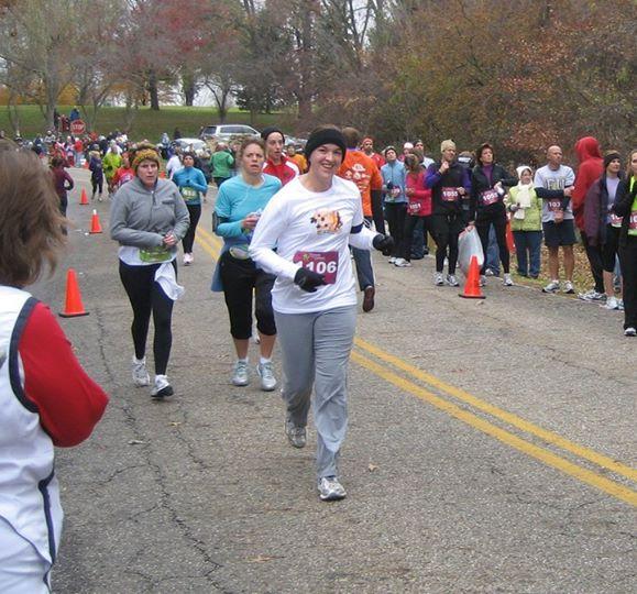Tanya during relay