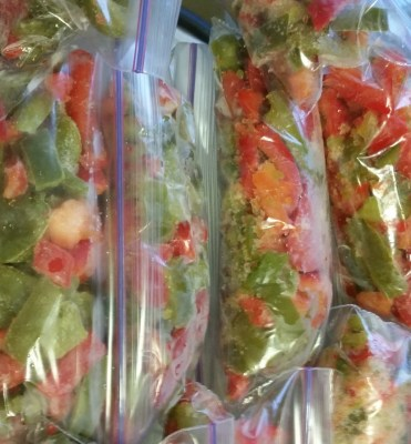 Individual servings of peppers