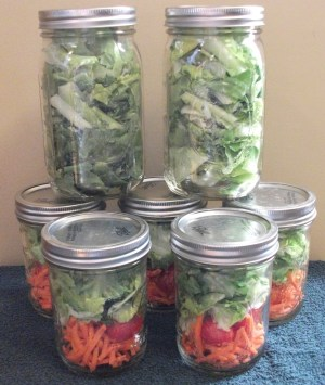 Mason Jar storage & side salads