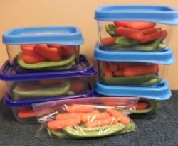 Veggie snack packs
