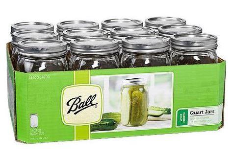 Ball Mason Jars Quart Size