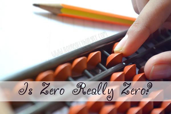Is zero really zero?