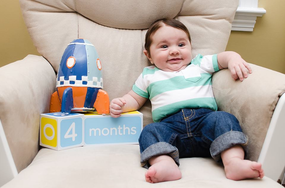 Landon Four Months Old