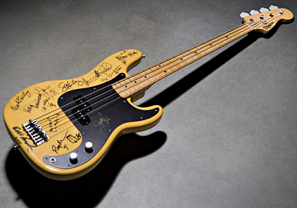 Autographed bass auctioned for Chi Cheng