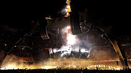 U2 concert stage