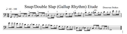 Fig. 6: Snap/Double Slap (Gallup Rhythm) (click to enlarge)