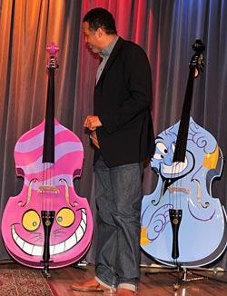 Stanley Clarke with Walt Disney design basses
