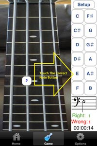 Bass Fretboard Addict App