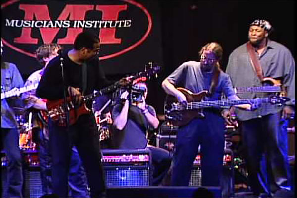 "Stanley Clarke, Stu Hamm, Bunny Brunel, Billy Sheehan, Flea, Alex Al, Brian Bromberg, Jimmy Johnson, Wayman Tisdale and Marcus Miller: ""School Days"" Live"