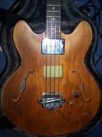 1967 Epiphone EB-232 Bass closeup