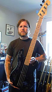Andrew Seward and Against Me! Auction Bass for Alabama Red Cross