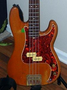 1966 Fender Precision Bass - close-up