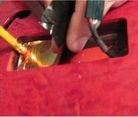 Applying copper tape