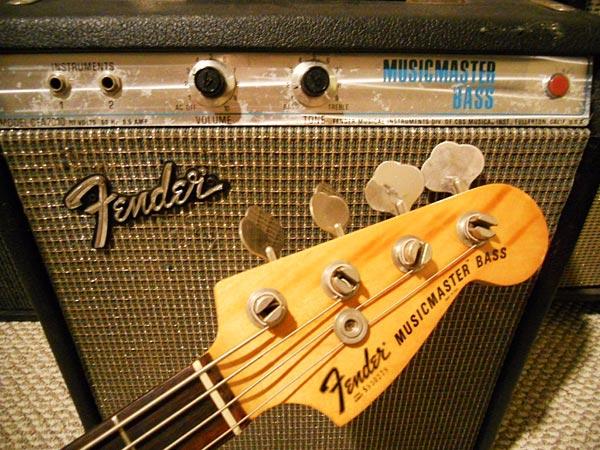1978 Fender Musicmaster Bass Head Stock