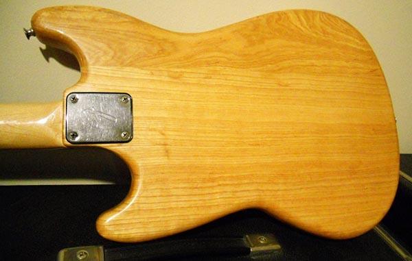 1978 Fender Musicmaster Bass Body Back