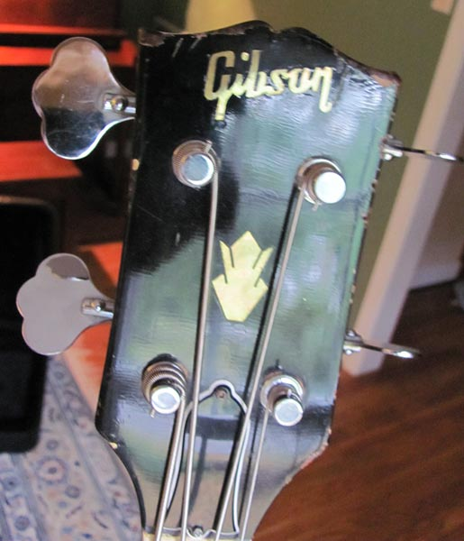 1968 Gibson EB-2D Bass (headstock)