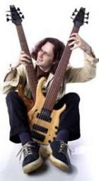 Steve Lawson with two basses