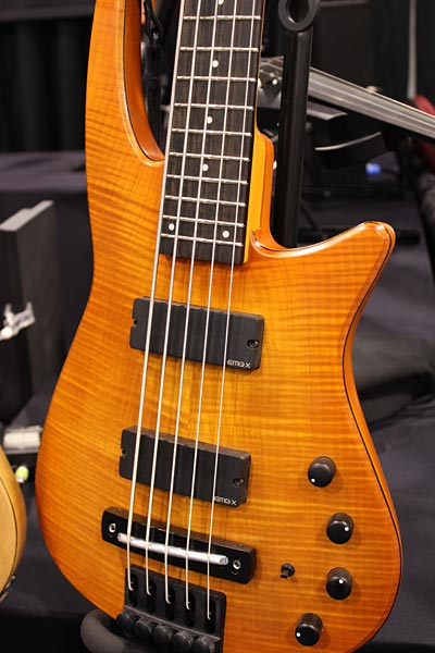 NS Design Headless Bass Guitar - Fretted closeup