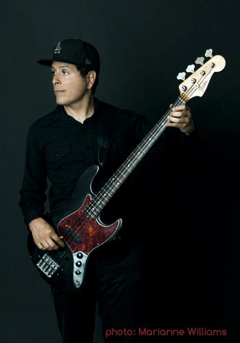 Juan Alderete with his Fender Jazz