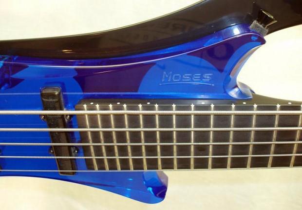 Moses Vertical Jump Bass Cobalt Blue - Fingerboard
