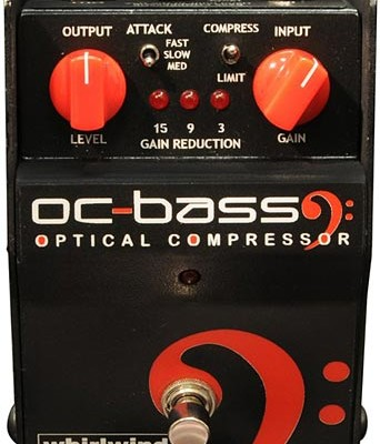 Whirlwind Introduces OC Bass Optical Compressor Pedal