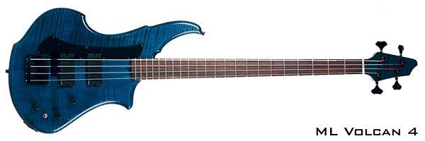 ML Basses Volcan 4-string Blue Bass