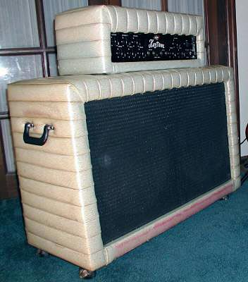 """1960's Kustom Model 200 """"Tuck & Roll"""" Bass Amp - side view"""