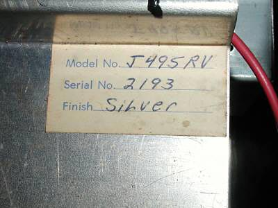 """1960's Kustom Model 200 """"Tuck & Roll"""" Bass Amp - serial number"""