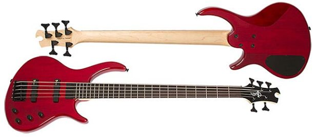 Epiphone Toby Deluxe-V Bass - Trans Red finish