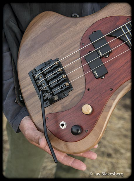 Les Claypool Personal Pachyderm Prototype Bass controls, pickups and bridge