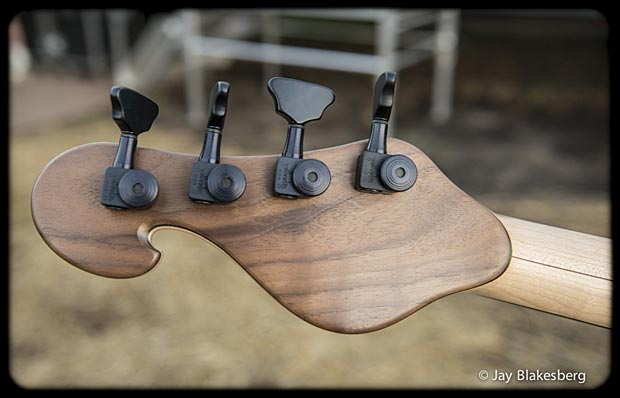 Les Claypool Personal Pachyderm Prototype Bass headstock back