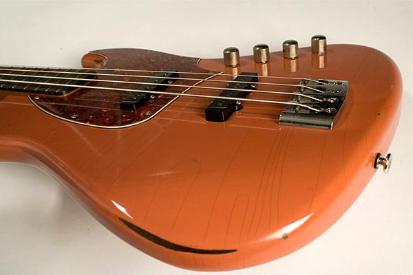 De Gier BeBop Bass - pickups and bridge