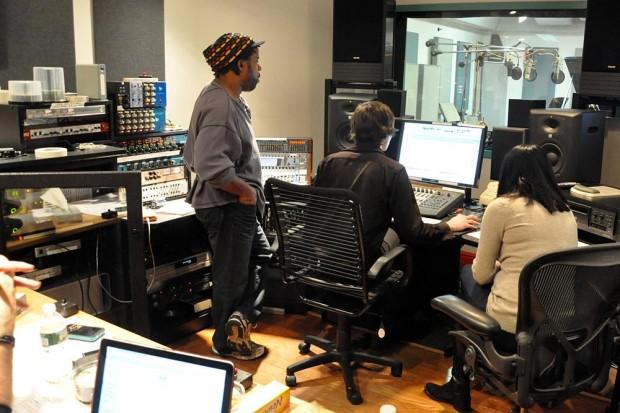 Victor Wooten in studio